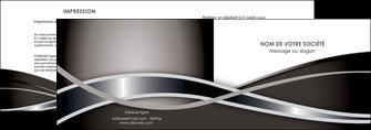 maquette en ligne a personnaliser depliant 2 volets  4 pages  web design noir fond gris simple MLGI70985