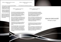 realiser depliant 3 volets  6 pages  web design noir fond gris simple MIS70995