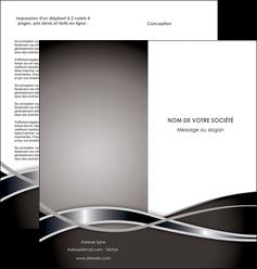 imprimer depliant 2 volets  4 pages  web design noir fond gris simple MIS70997