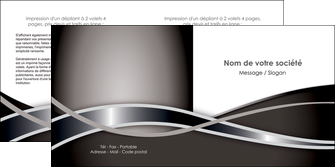 modele depliant 2 volets  4 pages  web design noir fond gris simple MLGI70999