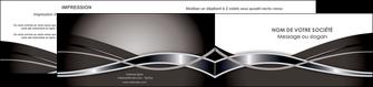 personnaliser modele de depliant 2 volets  4 pages  web design noir fond gris simple MLGI71005