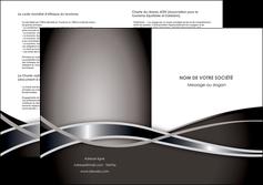 cree depliant 2 volets  4 pages  web design noir fond gris simple MIS71009