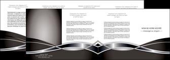 faire depliant 4 volets  8 pages  web design noir fond gris simple MIS71011