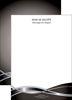 impression affiche web design noir fond gris simple MLGI71013