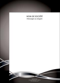 impression affiche web design noir fond gris simple MIS71013