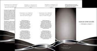 cree depliant 4 volets  8 pages  web design noir fond gris simple MIS71015