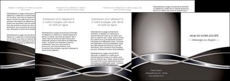 cree depliant 4 volets  8 pages  web design noir fond gris simple MIS71017