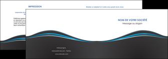 maquette en ligne a personnaliser depliant 2 volets  4 pages  gris gris fonce mat MLGI71213