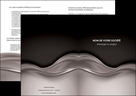 impression depliant 2 volets  4 pages  web design abstrait abstraction design MLGI71351