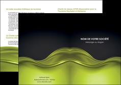 personnaliser maquette depliant 2 volets  4 pages  espaces verts vert vert pastel fond vert pastel MIF71421