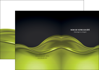 imprimerie pochette a rabat espaces verts vert vert pastel fond vert pastel MLGI71429