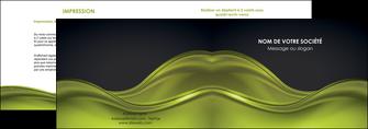 personnaliser modele de depliant 2 volets  4 pages  espaces verts vert vert pastel fond vert pastel MIF71431