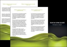 realiser depliant 3 volets  6 pages  espaces verts vert vert pastel fond vert pastel MLGI71441
