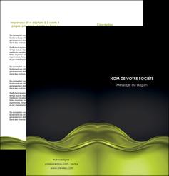 modele en ligne depliant 2 volets  4 pages  espaces verts vert vert pastel fond vert pastel MIF71443