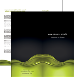 modele en ligne depliant 2 volets  4 pages  espaces verts vert vert pastel fond vert pastel MLGI71443