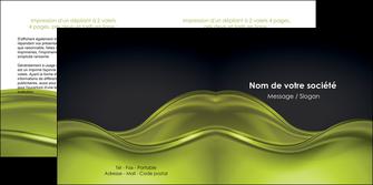 exemple depliant 2 volets  4 pages  espaces verts vert vert pastel fond vert pastel MLGI71445