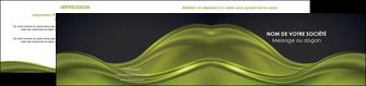 imprimerie depliant 2 volets  4 pages  espaces verts vert vert pastel fond vert pastel MIF71451