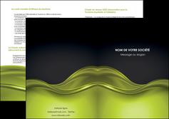 maquette en ligne a personnaliser depliant 2 volets  4 pages  espaces verts vert vert pastel fond vert pastel MIF71455