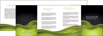 creation graphique en ligne depliant 4 volets  8 pages  espaces verts vert vert pastel fond vert pastel MIF71457
