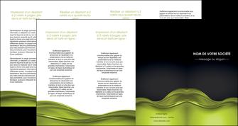 personnaliser maquette depliant 4 volets  8 pages  espaces verts vert vert pastel fond vert pastel MIF71461