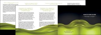 imprimer depliant 4 volets  8 pages  espaces verts vert vert pastel fond vert pastel MIF71463