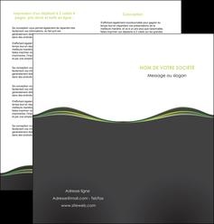 realiser depliant 2 volets  4 pages  web design gris gris metallise fond gris metallise MLGI71495