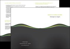 exemple depliant 2 volets  4 pages  web design gris gris metallise fond gris metallise MLGI71507
