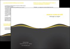 personnaliser modele de depliant 2 volets  4 pages  web design gris gris fonce mat MIF71525