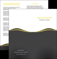 imprimerie depliant 2 volets  4 pages  web design gris gris fonce mat MIF71547