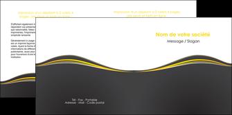 modele depliant 2 volets  4 pages  web design gris gris fonce mat MIF71549