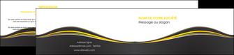 personnaliser modele de depliant 2 volets  4 pages  web design gris gris fonce mat MIF71555