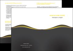 faire depliant 2 volets  4 pages  web design gris gris fonce mat MIF71559