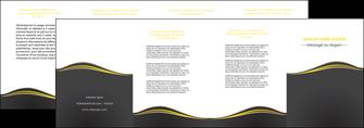 imprimer depliant 4 volets  8 pages  web design gris gris fonce mat MIF71561
