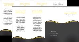 faire modele a imprimer depliant 4 volets  8 pages  web design gris gris fonce mat MIF71565
