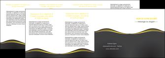 faire modele a imprimer depliant 4 volets  8 pages  web design gris gris fonce mat MIF71567