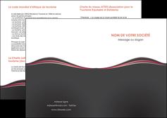 creer modele en ligne depliant 2 volets  4 pages  web design gris gris fonce mat MLIG71577