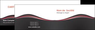 impression carte de visite web design gris gris fonce mat MLGI71579