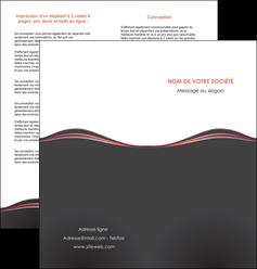 personnaliser modele de depliant 2 volets  4 pages  web design gris gris fonce mat MLGI71599