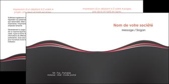 personnaliser modele de depliant 2 volets  4 pages  web design gris gris fonce mat MLGI71601