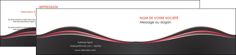 faire modele a imprimer depliant 2 volets  4 pages  web design gris gris fonce mat MLGI71607