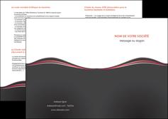 cree depliant 2 volets  4 pages  web design gris gris fonce mat MLGI71611