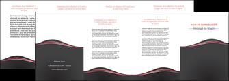 maquette en ligne a personnaliser depliant 4 volets  8 pages  web design gris gris fonce mat MLGI71613