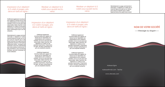 maquette en ligne a personnaliser depliant 4 volets  8 pages  web design gris gris fonce mat MLGI71617