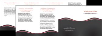modele depliant 4 volets  8 pages  web design gris gris fonce mat MLIG71619