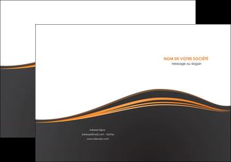 personnaliser modele de pochette a rabat web design noir fond noir couleur noir MIF71803