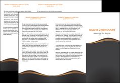 imprimer depliant 3 volets  6 pages  web design noir fond noir couleur noir MIF71817