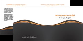 modele en ligne depliant 2 volets  4 pages  web design noir fond noir couleur noir MIF71821