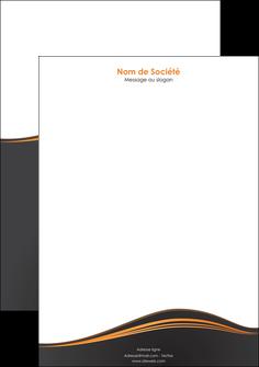 personnaliser maquette tete de lettre web design noir fond noir couleur noir MIF71823