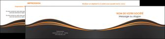 imprimer depliant 2 volets  4 pages  web design noir fond noir couleur noir MIF71827