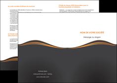 creer modele en ligne depliant 2 volets  4 pages  web design noir fond noir couleur noir MIF71831